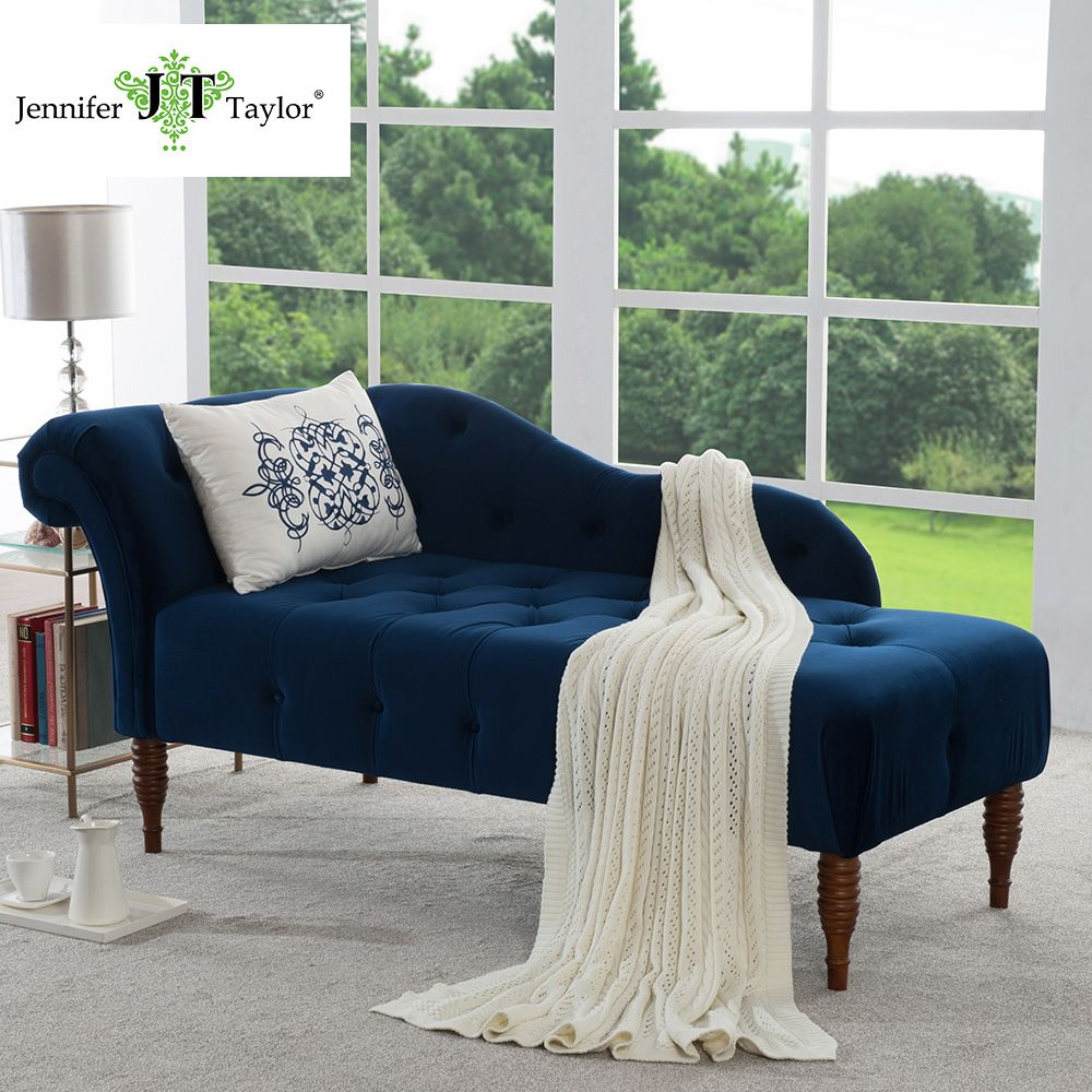 Jennifer Taylor, Harrison Estate Blue Chaise Lounge,66