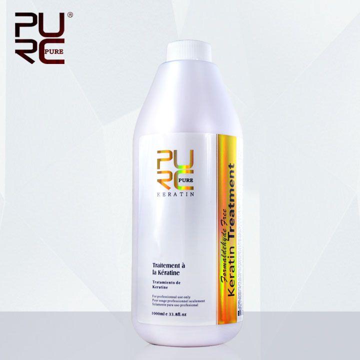 Brazilian Formaldehyde Free Keratin Treatment 1000ml Repair damaged hair straighten hair best salon products free shipping