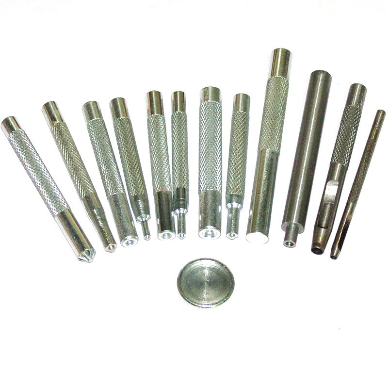 (13 pieces/lot) tools Button installation tool. Sewing repair kit combination Rivet. Snaps. Eyelet. Knock rod by hand dies
