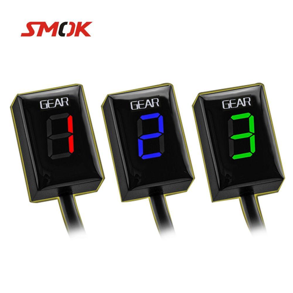 SMOK Motorcycle Ecu Direct Mount 1-6 Speed Gear Display Indicator For Kawasaki Z300 ER6N Z1000SX Ninja 300 Z1000 Z800 Z750
