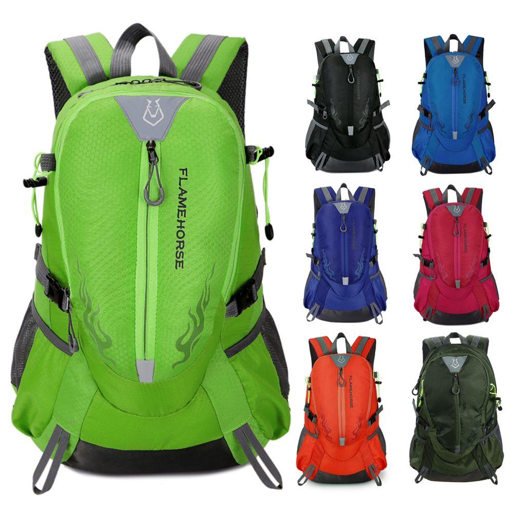 Flame Horse Outdoor Hiking Backpack Waterproof Nylon Men Women Bag Unisex Travel Bag <font><b>Mountain</b></font> Camping Climbing Mochilas Rucksack