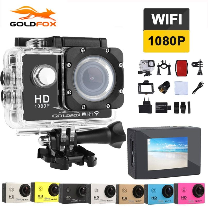GOLDFOX Action Camera 2.0 inch Mini Cam wifi 170 degrees 1080p 30fps Go Waterproof pro Sj4000 Style Outdoor Sport Camera