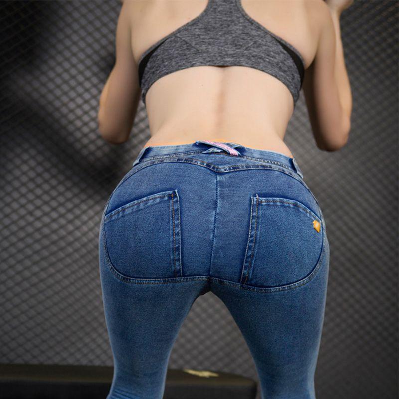 2018 femmes Push Up Jeans Skinny bouton fermeture éclair grande taille vêtements nouvelle mode Sexy femme été automne hiver Jeans crayon pantalon