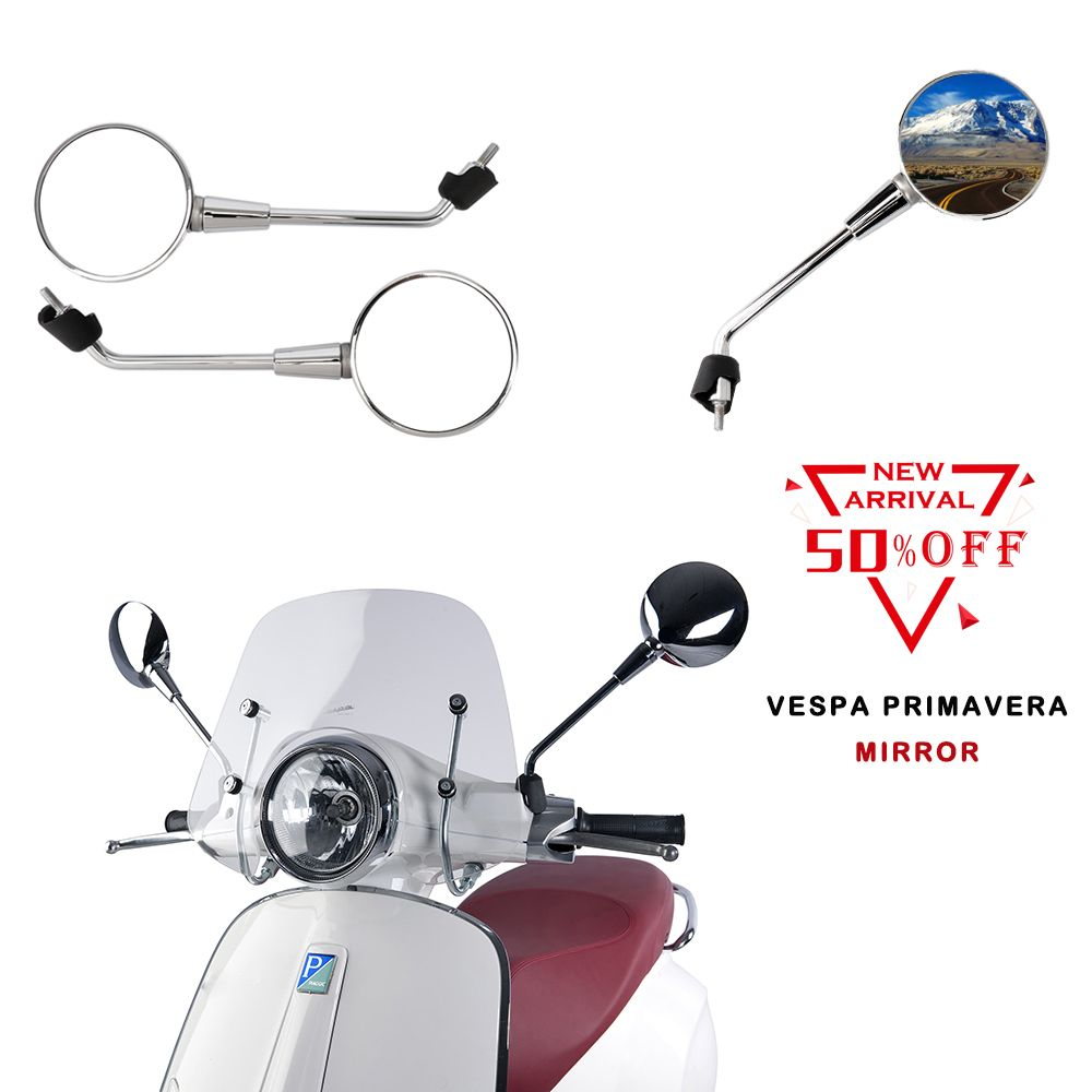 Motorcycle Mirrors Rearview Rear view Mirror For vespa Primavera 50 125 150 2T 4T 2015 2016 2017 2018 Motorcycle Accessories