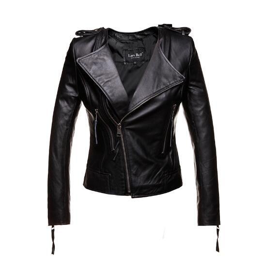 2018 Новый Для женщин настоящие кожаные куртки и пальто натуральная кожаная куртка весна осень красный черный коричневый s-xxl овчины без ворот...