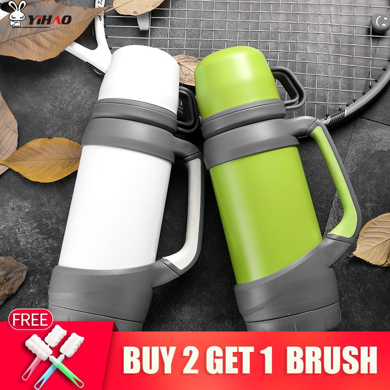 0.8L,1L vacuum flasks thermoses stainless steel big size outdoor travel cup thermos bottle thermal coffee garrafa termica sport