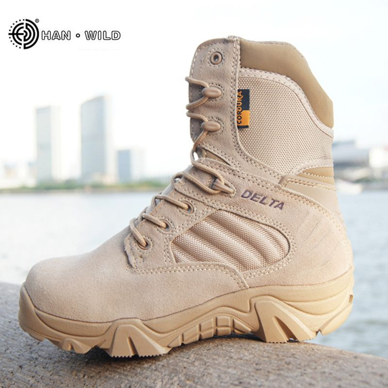 Winter Autumn Men Military Boots Quality Special Force Tactical Desert Combat Ankle <font><b>Boats</b></font> Army Work Shoes Leather Snow Boots