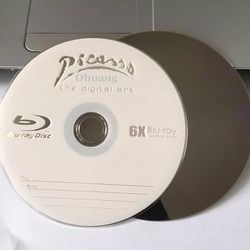 Wholesale 50 discs A+ Picasso 6x 25GB Blank Printed Blu Ray BD-R Disks