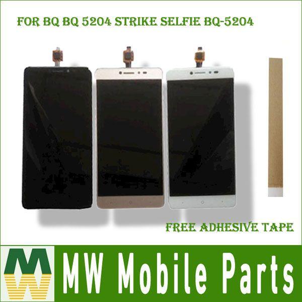 For BQ BQ 5204 Strike Selfie BQ-5204 BQ5204 LCD Display Screen+Touch Screen Digitizer Assembly Black White Gold Color with Kit