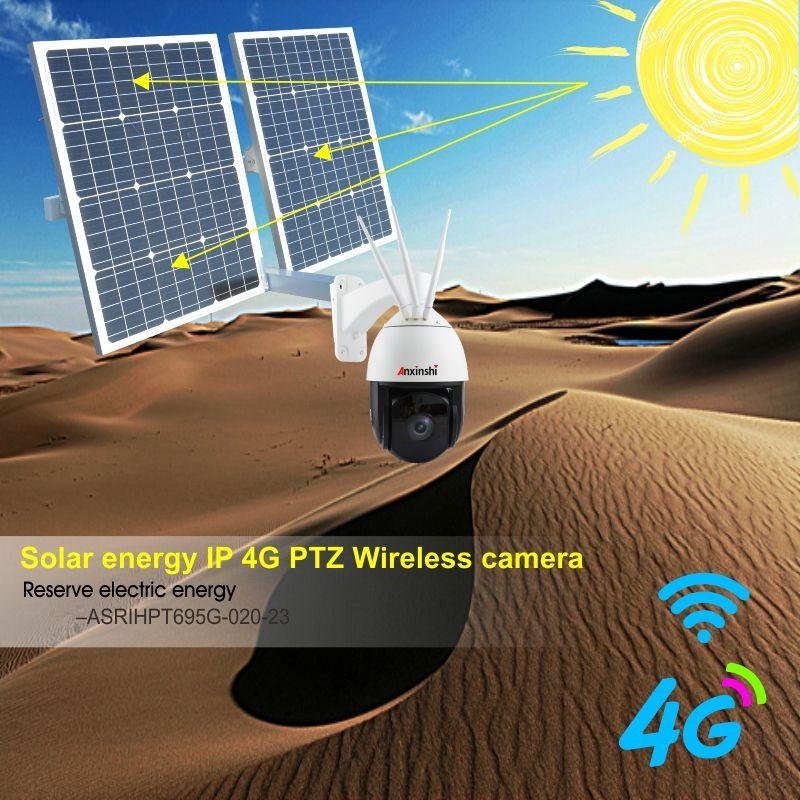 Solar panel für 4G WiFi PTZ Kamera Drahtlose Netzwerk HD 1080P Onivf P2P outdoor Sicherheit CCTV IP kamera 2 ausgang DC schnittstellen