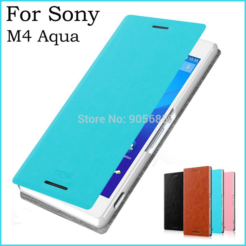 For Sony xperia M4 Aqua Case Cover Luxury Flip Leather Case For Sony xperia M4 Aqua Wallet Pu Leather Stand Case