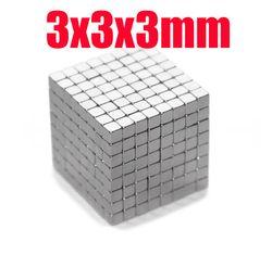 3*3*3 N35 imán s 100 piezas Strong bloque cubo imanes 3mm x 3mm x 3mm imanes de neodimio de tierra rara