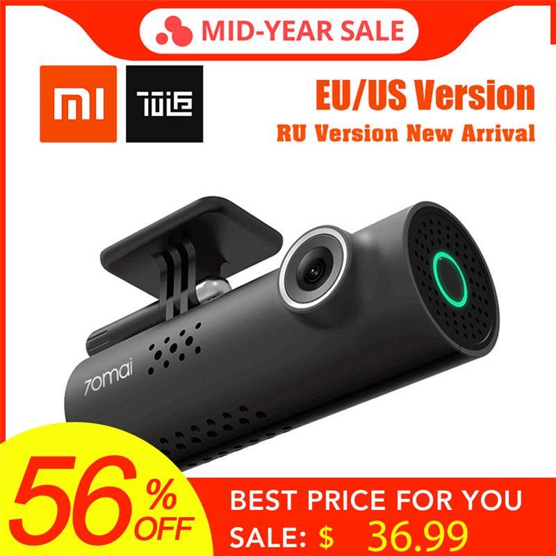 In Stock! XiaoMi 70Mai 70Minutes Smart Car DVR RU/EU/US Version 1080P Wireless Dash Cam 130Degree Wide Angle IMX323 VoiceControl