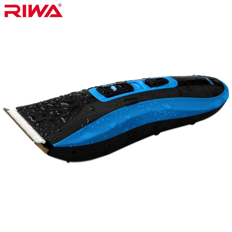 Riwa RE-750A high quality CE certificated 7 level waterproof professional hair trimmer blue color Cordless hair clipper