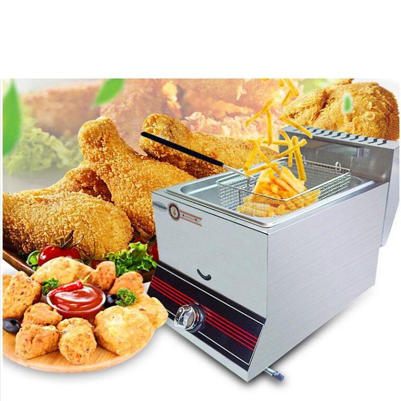Kommerziellen Gas Friteuse Huhn Französisch Frites Braten Ofen Topf Gas Kommerziellen Lebensmittel Braten Maschine Für Haushalt Oder Shop