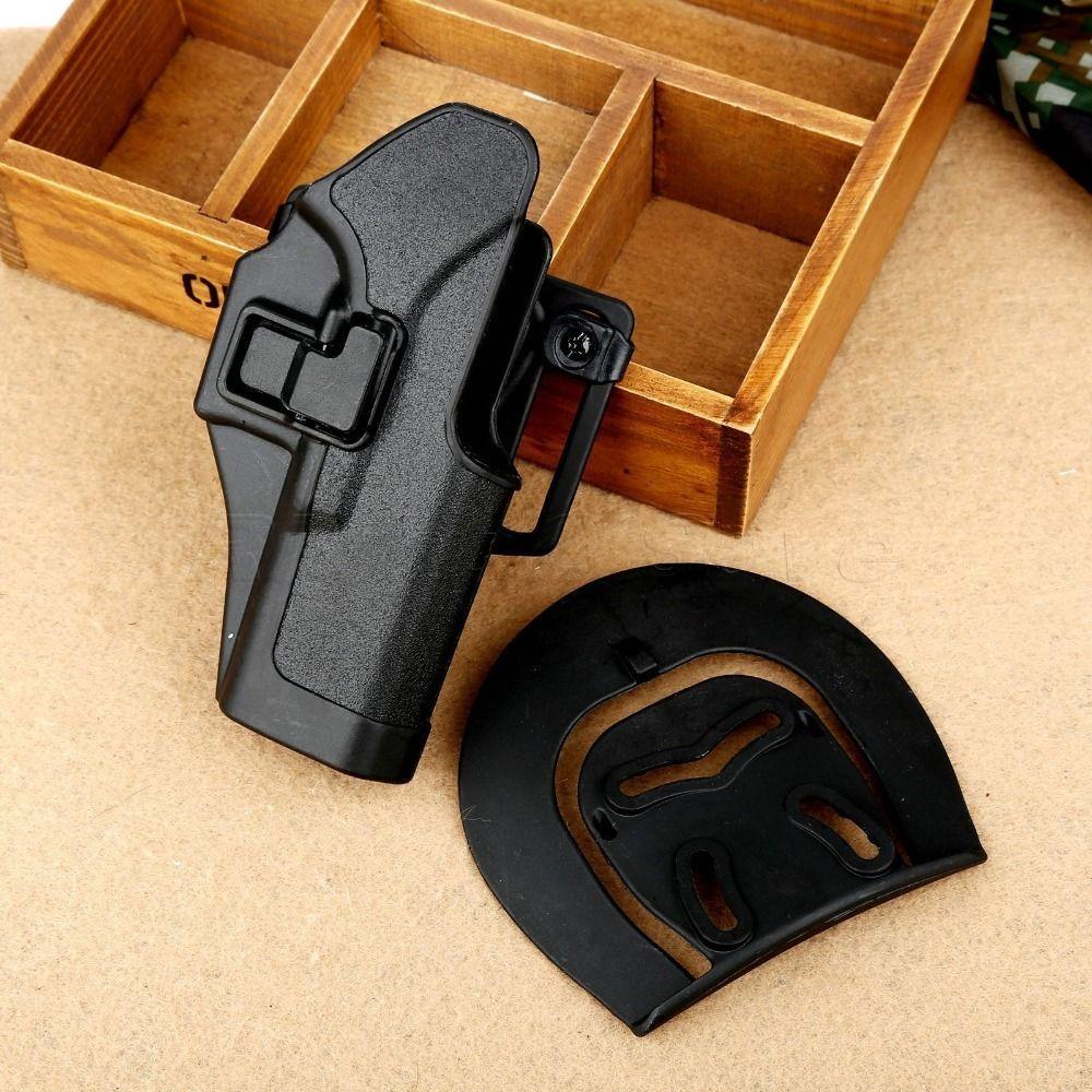 C Q C noir étui tactique chasse Airsoft RH ceinture pistolet étui pour Glock 17 18 19 23 32 36