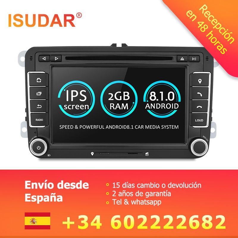 Isudar Car Multimedia player Android 8.1 GPS 2 Din For VW/Golf/Tiguan/Skoda/Fabia/Rapid/Seat/Leon/Skoda canbus dvd automotivo fm