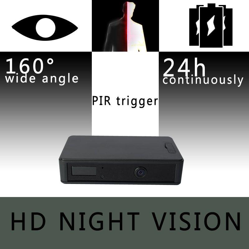 Caméra de Surveillance à capteur IR Invisible ZETTA Zir32 avec batterie 24 heures et objectif grand angle HD caméra de vision nocturne mini dvr cctv