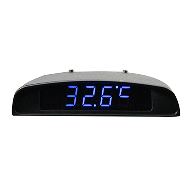 12V Car Interior Trim Appearance 3 In 1 Car Clock Theromometer And Voltage Monitor Seven Kinds of Display Mode Car Clock Digital