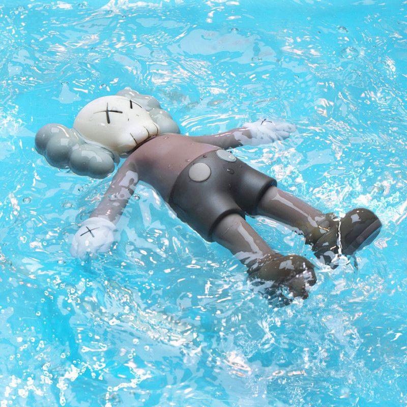 Original Fake KAWS Brian BFF Holiday Replica Bath Toy Floating Dolls PVC Action Figure Model Medicom Toy L2592