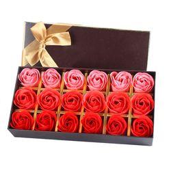 Nouveau 18 Pcs Gradient Creative simulation rose fleur de Savon