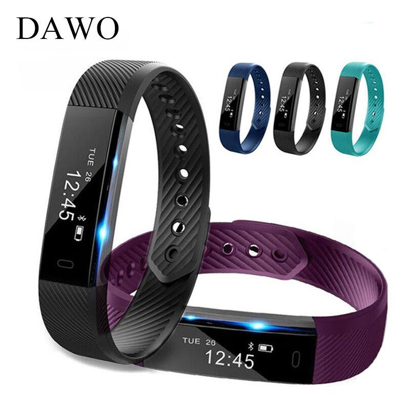 DAWO Smart Fitness Bracelet Watch 115 Fitness Tracker Sleep Activity Tracker Alarm Clock Smart Wristband PK ID115 Xiao Miband 2