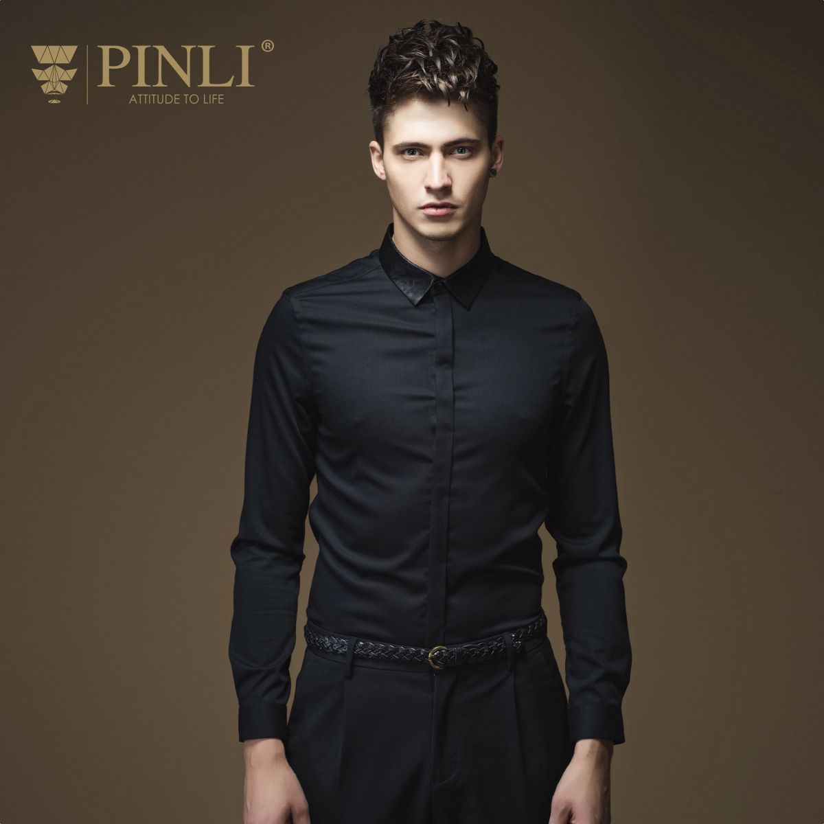 Camisas New Arrival Rushed Full Pinli Pinly British Gentry 2016 Men Fall Solid Micro Long Sleeved Shirt Collar Slim B163313154