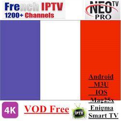 Promotions Neotv PRO 1200 Canaux Français IPTV Europe Arabe Belgique IPTV code d'abonnement LiveTV M3U MAG254 Android Smart TV