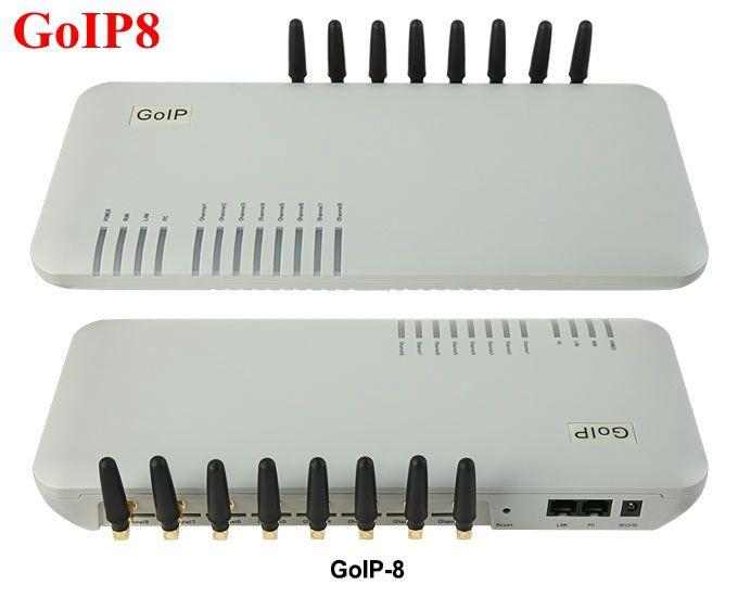 GoIP 8 ports gsm gateway/voip sip gateway/IP GSM Gateway/ GoIP8 VoIP GSM Gateway support SIP/H.323 -special price offer