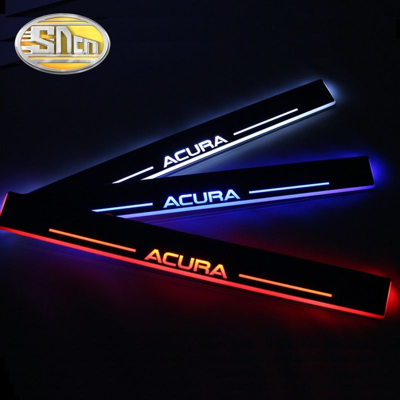 SNCN Waterproof Acrylic Moving LED Welcome Pedal Car Scuff Plate Pedal Door Sill Pathway Light For Acura MDX 2010 - 2013 2014