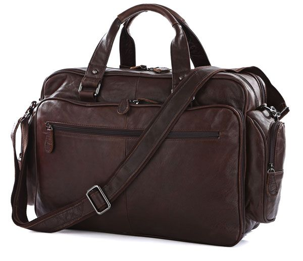 Large Capacity Big Size Genuine Leather Briefcase Men Messenger Bags Cowhide 15.6