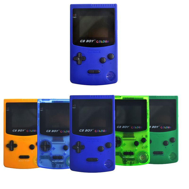 2.7 GB Boy Classic Color Colour Handheld Game <font><b>Console</b></font> Game Player with Backlit 66 Built-in Games Juegos Mando Blue Green