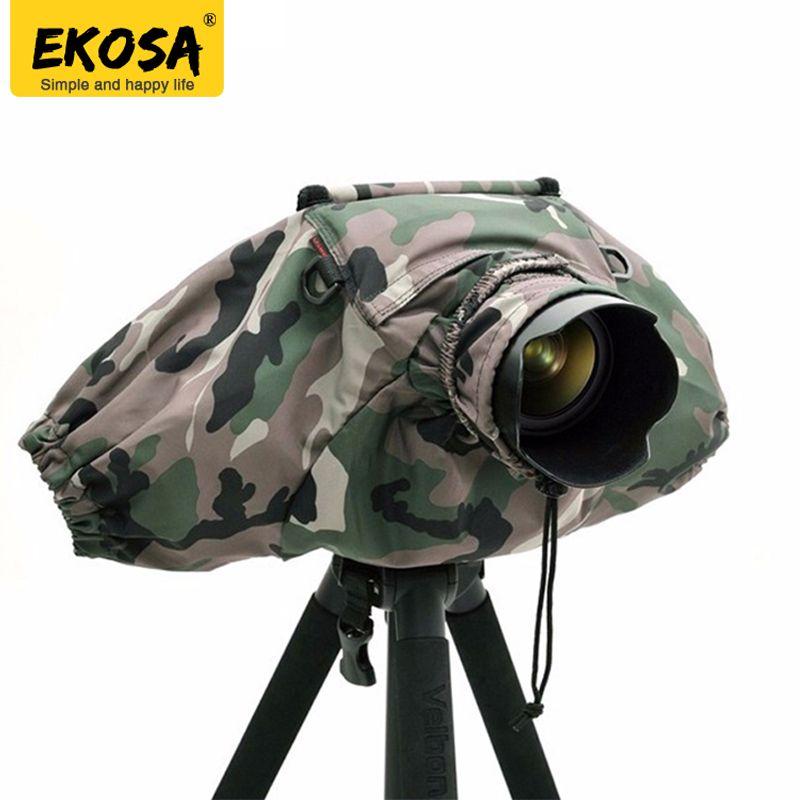 Ekosa Professional Camera Rain Covers Coat Bag Protector Rainproof Waterproof Against Dust for Canon Nikon Pendax Sony DSLR SLR