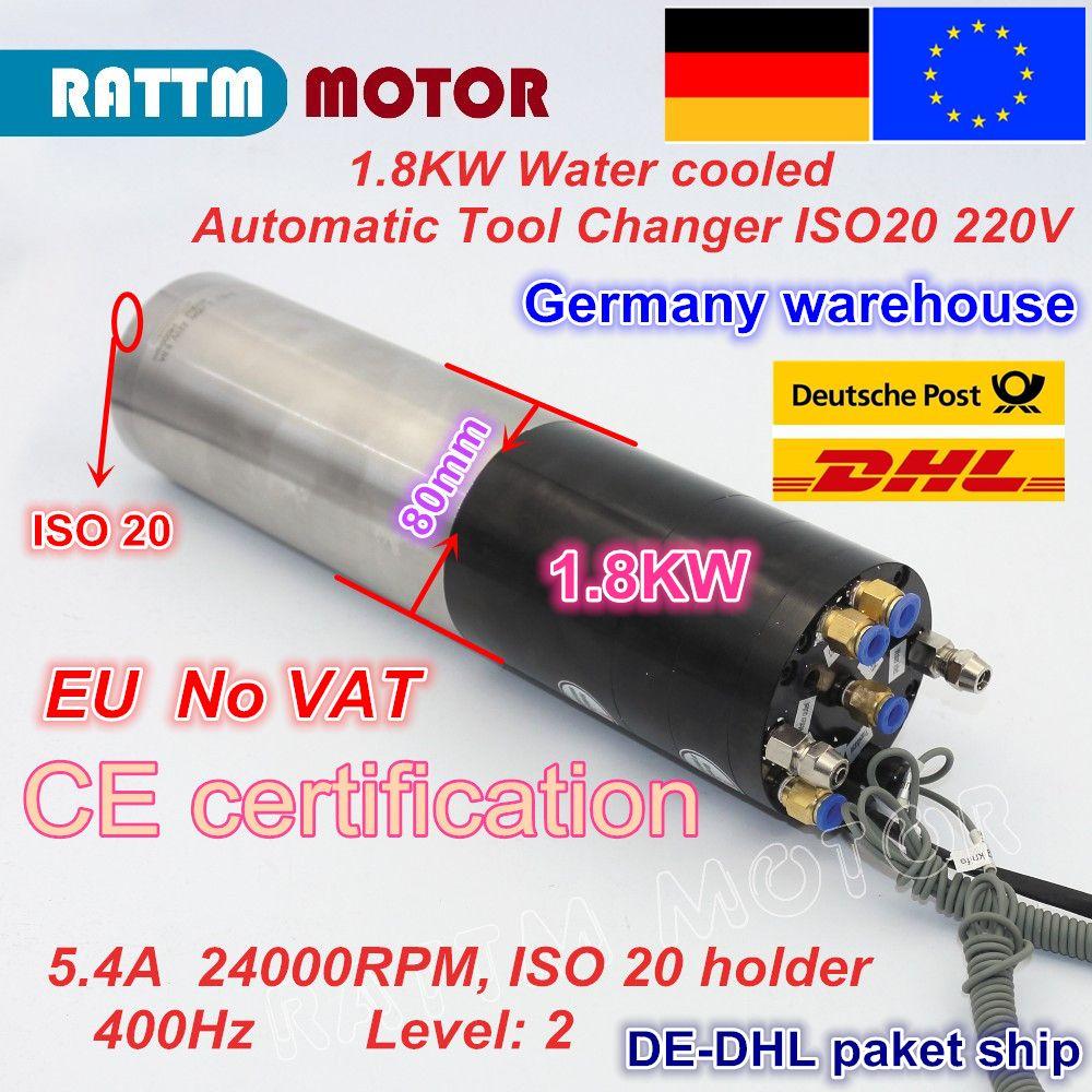 1.8KW ATC Automatische werkzeug ändern wasser gekühlt SPINDEL MOTOR ISO20 PERMANENT POWER ELEKTRISCHE SPINDEL FÜR CNC Fräsen MASCHINE