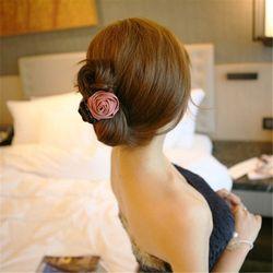 Indah Bunga Kain Rambut Bunga Mawar Ikat Rambut Ekor Kuda Hairband Rambut Cakar Tali Rambut Klip Wanita Hiasan Kepala Hadiah 8C0443