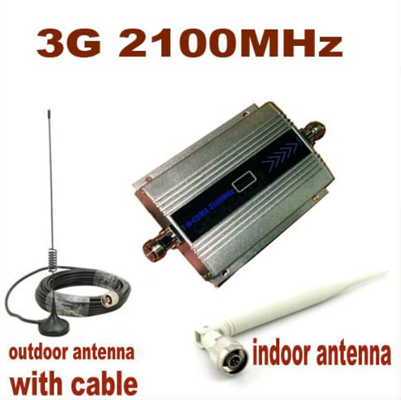 Full Set LCD 3G W-CDMA 2100Mhz 3G repeater coverage 500 square 3g booster mobile phone booster amplifier repeater