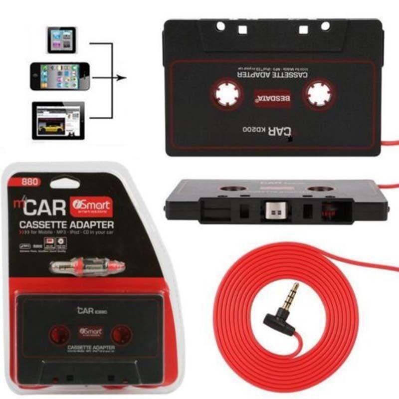 Maytir 110 cm Universelle Audio Band Adapter 3,5mm Jack Stecker Schwarz auto Stereo Audio Kassetten-adapter Für IPod IPhone MP3 CD Player