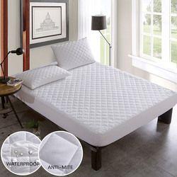Brossé Tissu Matelassé Lit De Couverture Imperméable à l'eau À Tricoter Matelas Protecteur Couverture Pour Lit Anti-acariens