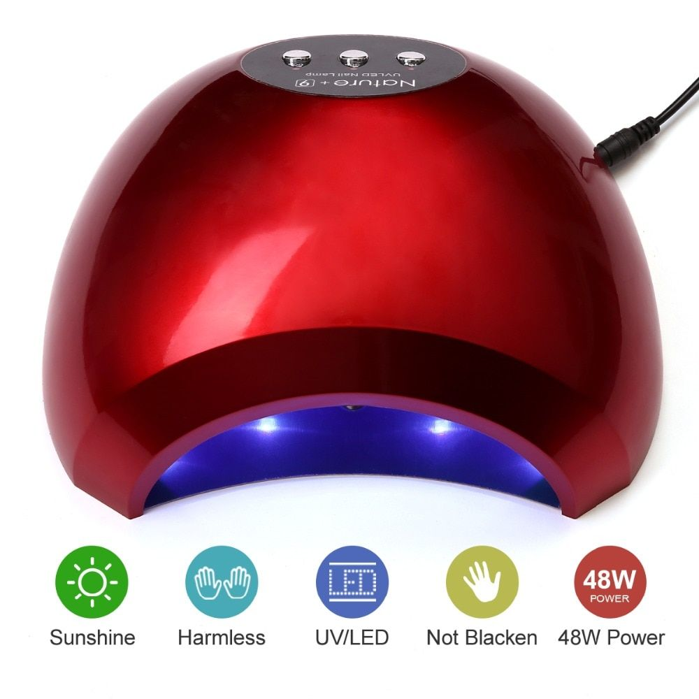 Modelones N9 48W Led Lamp Nail Dryer 24LEDs Fast Dryer UV Lamp For All Types Nail Gel Infrared Sensor Nail Lamp Manicure Tools