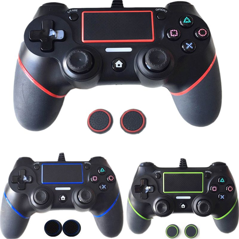 For PS4 Controller Updated 5.5 Wired Gamepad For Playstation Dualshock 4 <font><b>Joystick</b></font> Multiple Vibration 1.8M Cable For PS4 Console