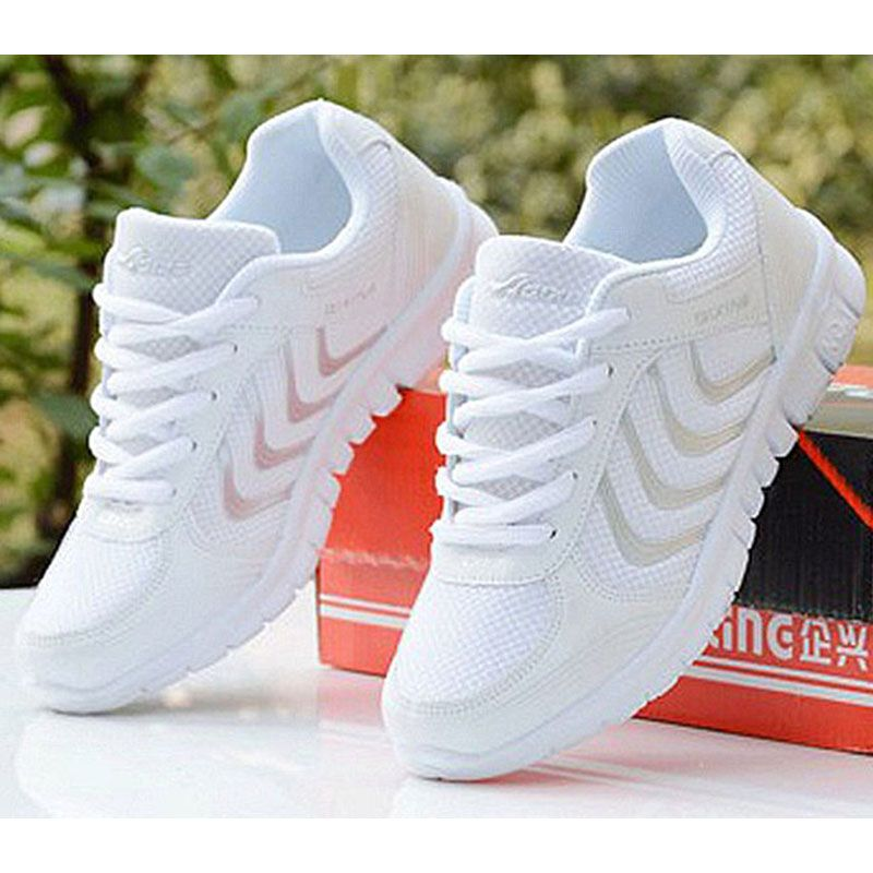 2017 new arrivals women casual shoes breathable fashion mixed colors women sneakers shoes