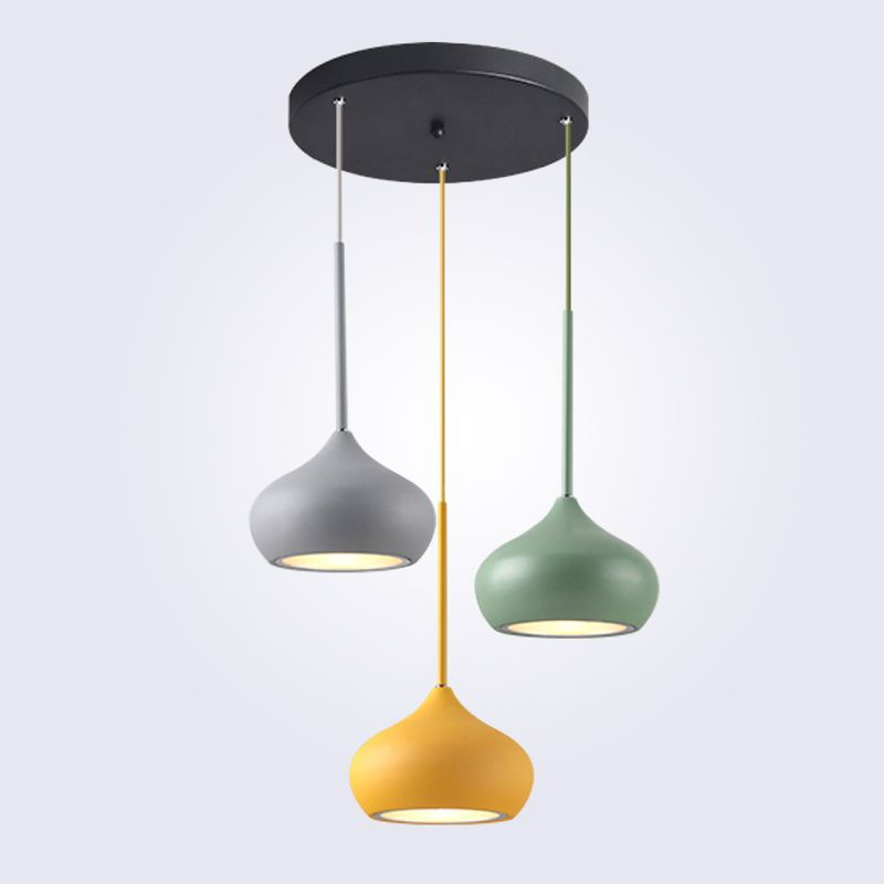 Modern Pendant Lights Restaurant Droplight LED AC90-240V Multicolor Indoor Decration Lighting Living Room Handing Lamps Aluminum