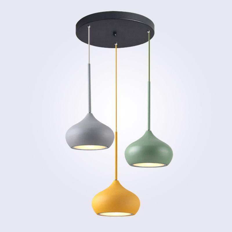 Modern Pendant Lights Restaurant Droplight LED AC90-240V Multicolor Indoor Decration Lighting Living Room Handing Lamps Aluminum
