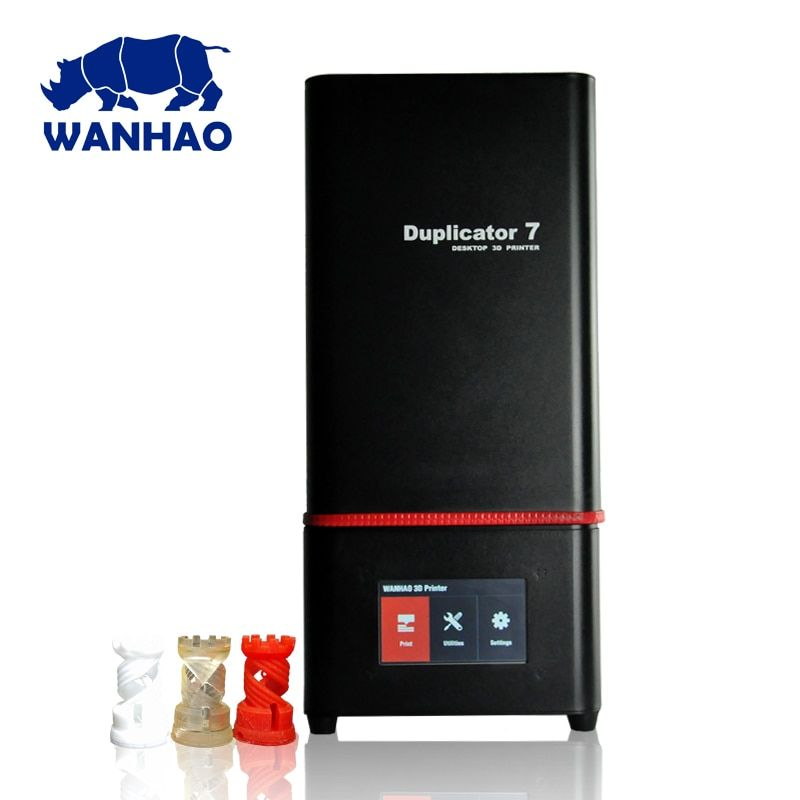 2018 Newest Wanhao D7 PLUS 3D Printer DLP SLA Duplicator D7 PLUS 3D Machine LCD Touch Screen 250ml UV Resin & FEP Film For Free