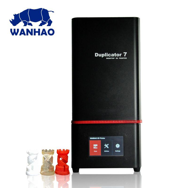 2018 Newest Wanhao D7 PLUS 3D Printer DLP SLA Duplicator D7 PLUS 3D Machine LCD Touch Screen 250ml UV Resin & FEP Film For Free