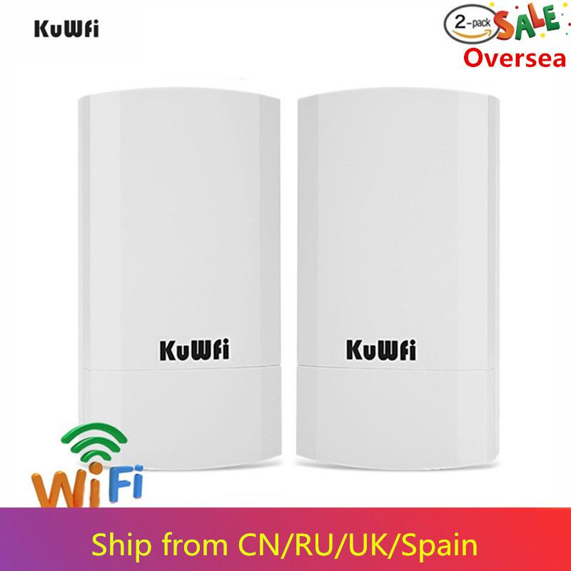 KuWfi Router 2KM 300Mbps Wireless Router Outdoor & Indoor CPE Router Kit Drahtlose Brücke Wifi Repeater Unterstützung WDS lange Palette