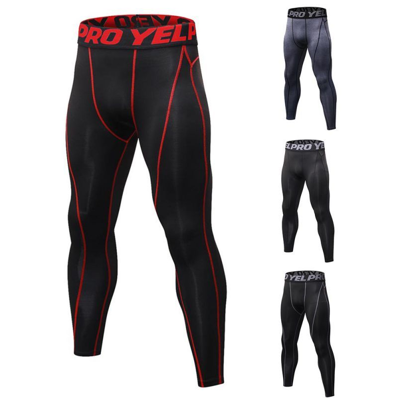 Running Tights Men Sports Leggings Sportswear Long Trousers Yoga Pants Winter Fitness Compression Quick-drying Pants