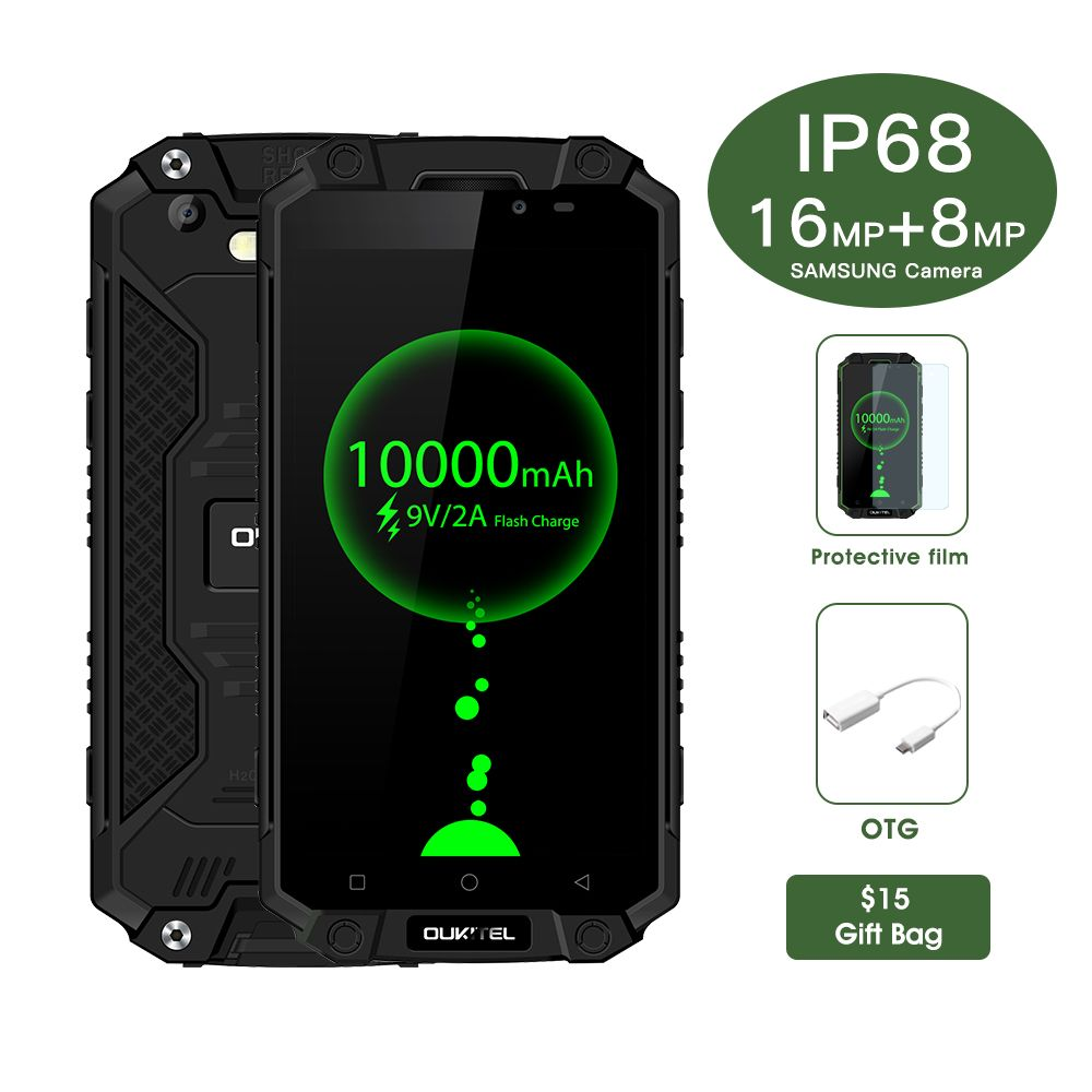 Oukitel K10000 Max IP68 Wasserdichte Staubdichte Shockproof MTK6753 3G RAM 32G ROM 10000 mAh 5,5