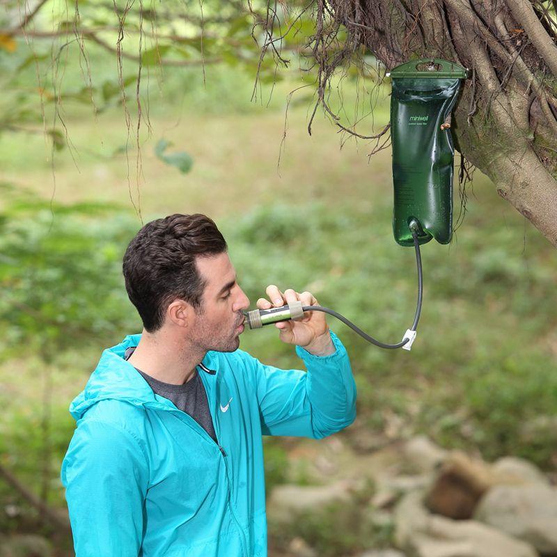 Kits de survie Miniwell filtre à eau par gravité préparation d'urgence pour la randonnée et le vélo