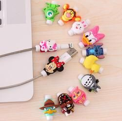 Mode Nouveau dessin animé USB Câble Écouteurs Protecteur Coloré Coque Pour Iphone X 8 4 4S 5 5S 5c se 6 6 s 7 7 S Plus Cas Fundas cas
